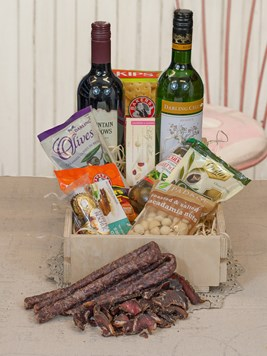 Snack & Gift Hampers: Wine and Biltong Box