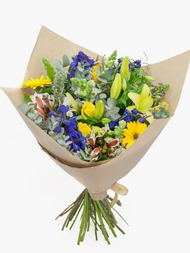 Bouquets: Purple Yellow Velvet