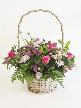 Arrangements: Pastel Pink Basket OM
